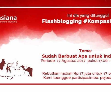Ambil Ancang-ancang, dan Inilah Tema Flashblogging #Kompasiana17an!