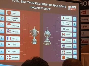 Otak-atik Peluang Indonesia di Perempat Final Piala Thomas Uber 2018